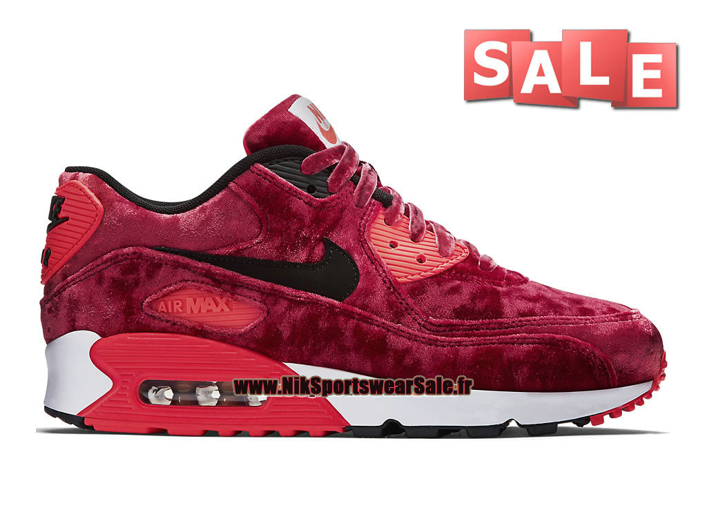 Nike Air Max 90 Anniversary GS - Chaussure Nike Sportswear Pas Cher Pour Femme/Fille Rouge sportif/Infrarouge/Or métallique/Noir 726485-600