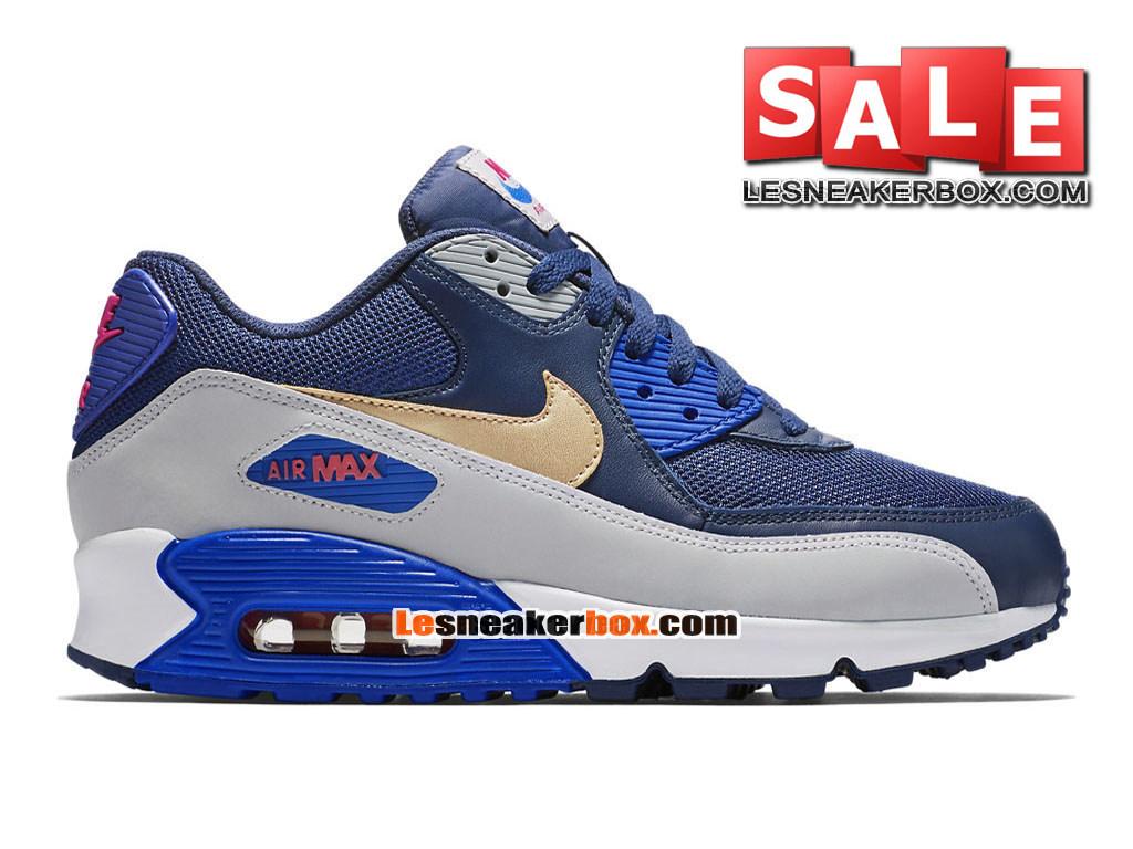 dd6310e3fac Nike Air Max 90 Anniversary PS - Chaussure Nike Sportswear Pas Cher Pour  Petit Enfant Bleu ...