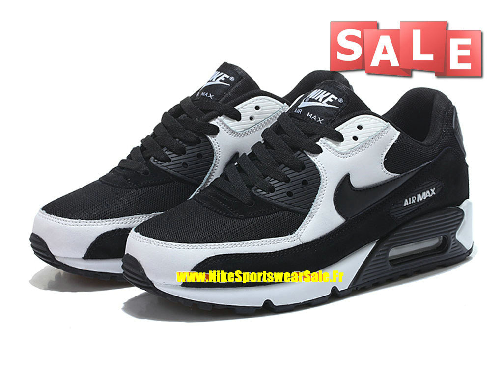 sale retailer 0d594 261dc ... Nike Air Max 90 - Chaussure Nike Sportswear Pas Cher Pour Homme Noir  Blanc 307793 ...