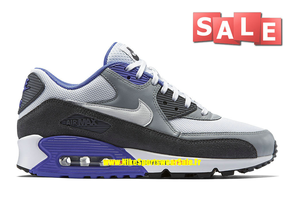 brand new 50351 102db Nike Air Max 90 Essential - Chaussure Nike Sportswear Pas Cher Pour Homme  Blanc/Argent