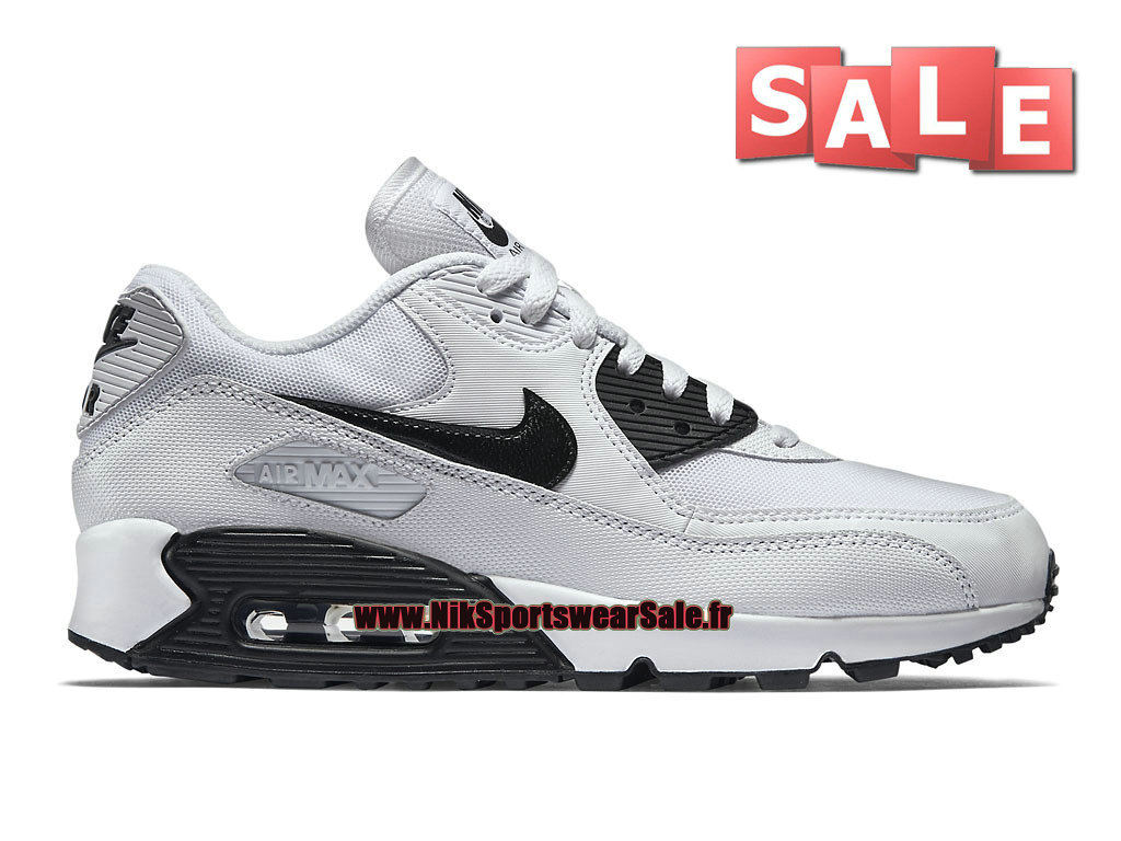 finest selection 2c177 4f7be Nike Air Max 90 Essential - Chaussure Nike Sportswear Pas Cher Pour Homme  Blanc Noir