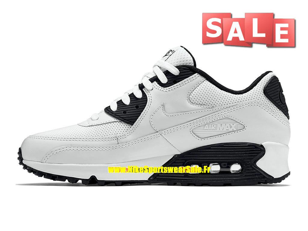 5eb3792ac3f ... Nike Air Max 90 Essential - Chaussure Nike Sportswear Pas Cher Pour  Homme Blanc Noir ...