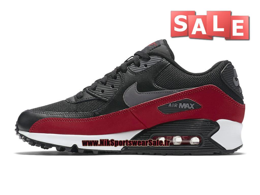 9cdd3d9c2b2f ... Nike Air Max 90 Essential - Men´s Nike Sportswear Shoe Black/University  Red ...