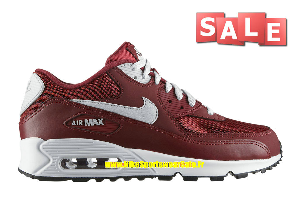 brand new c75ac 8bb1d Nike Air Max 90 Essential - Chaussure Nike Sportswear Pas Cher Pour Homme  Rouge équipe  ...