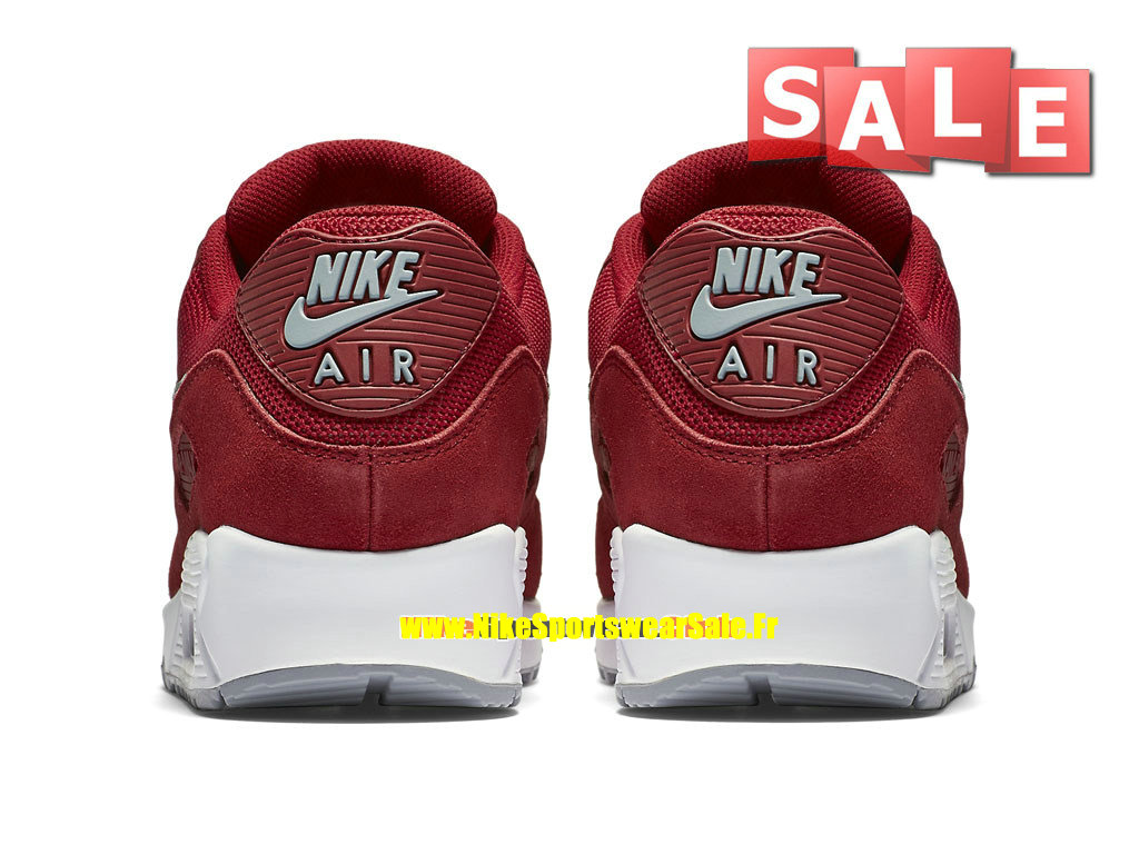 the best attitude 08990 53aee ... Nike Air Max 90 Essential - Chaussure Nike Sportswear Pas Cher Pour  Homme Rouge sportif