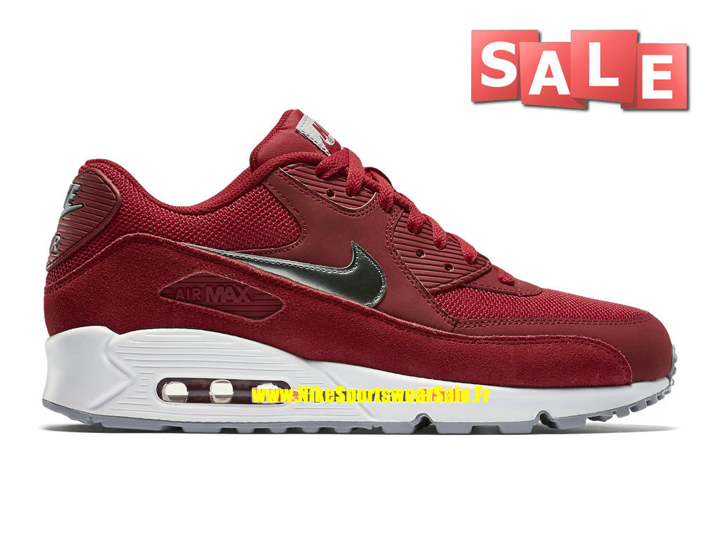 new arrivals c709e 3955f Nike Air Max 90 Essential - Chaussure Nike Sportswear Pas Cher Pour Homme  Rouge sportif  ...