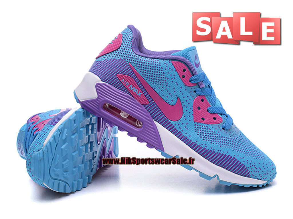separation shoes eec02 5094f ... Nike Air Max 90 Flyknit GS - Chaussures Nike Sportswear Pas Cher Pour  Femme Fille ...