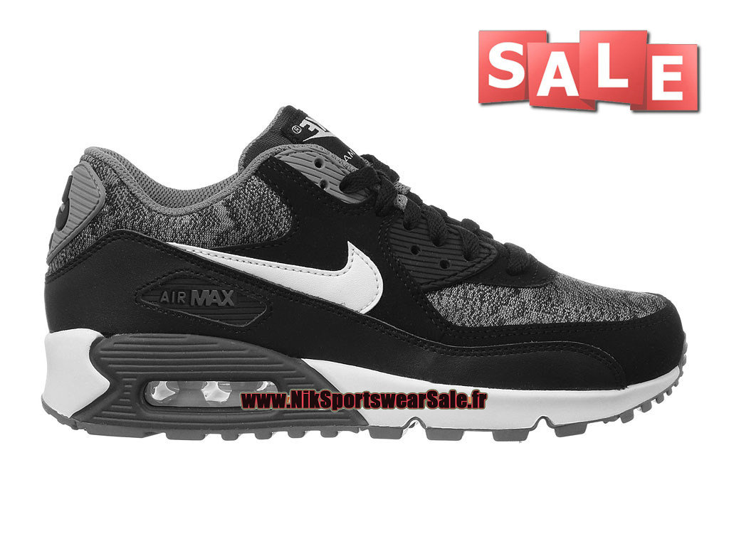 best sneakers 8f6bb a2d1d Nike Air Max 90 GS - Chaussure Nike Sportswear Pas Cher Pour Femme Enfant  Anthracite ...