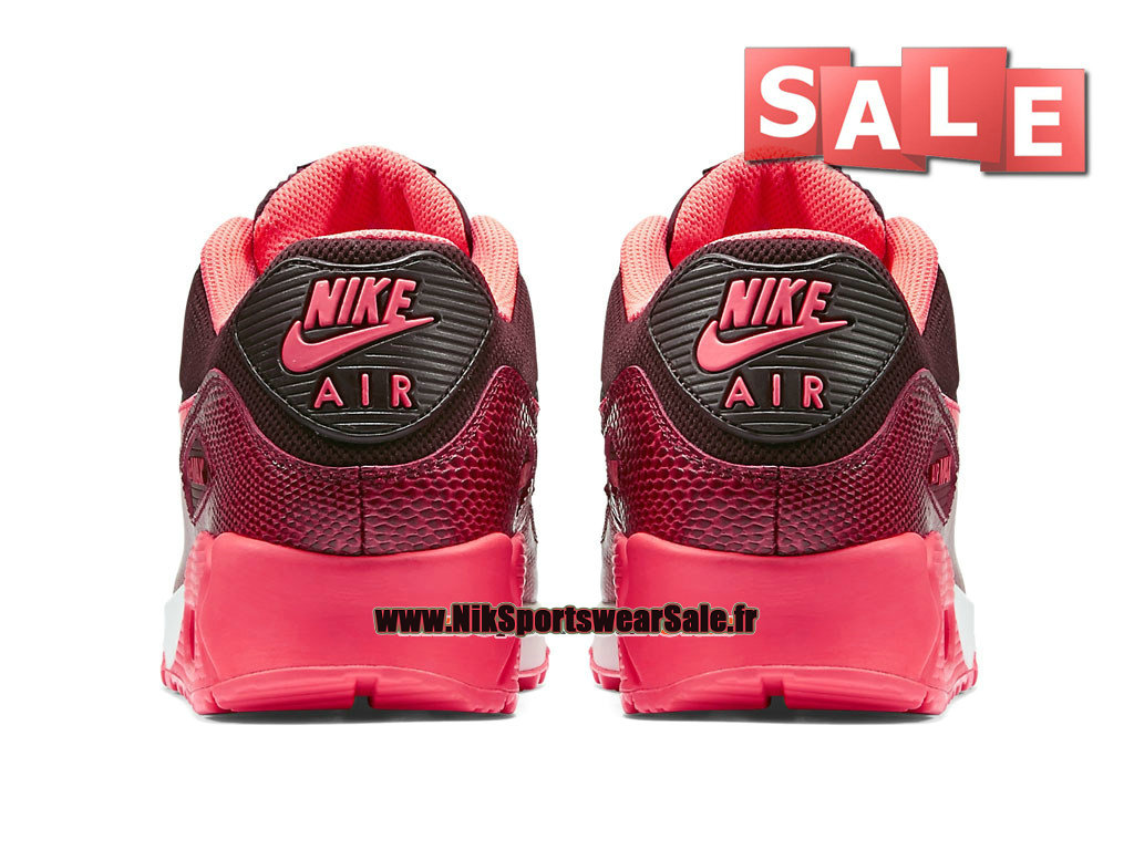 best value 63a52 c3cda ... Nike Air Max 90 GS - Chaussures Nike Sportswear Pas Cher Pour FemmeEnfant  Bordeaux