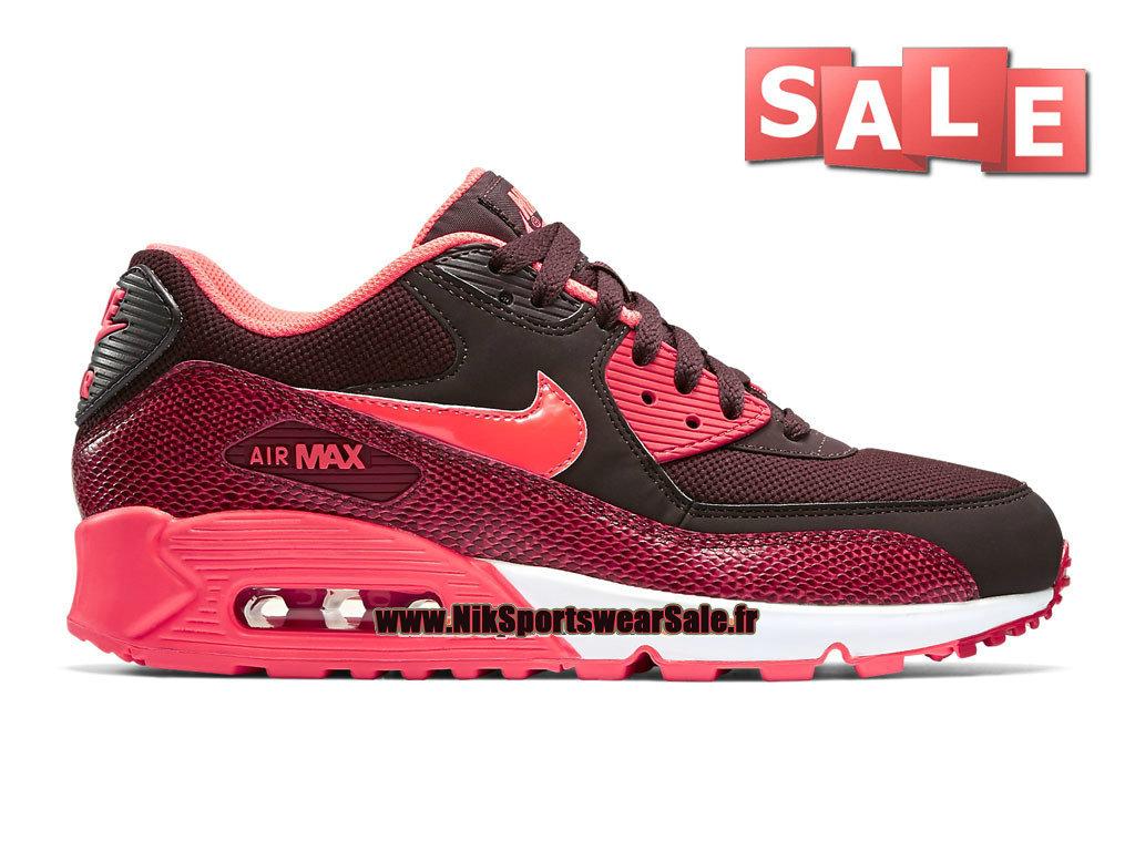 huge selection of 4f707 d81de Nike Air Max 90 GS - Chaussures Nike Sportswear Pas Cher Pour FemmeEnfant  Bordeaux ...