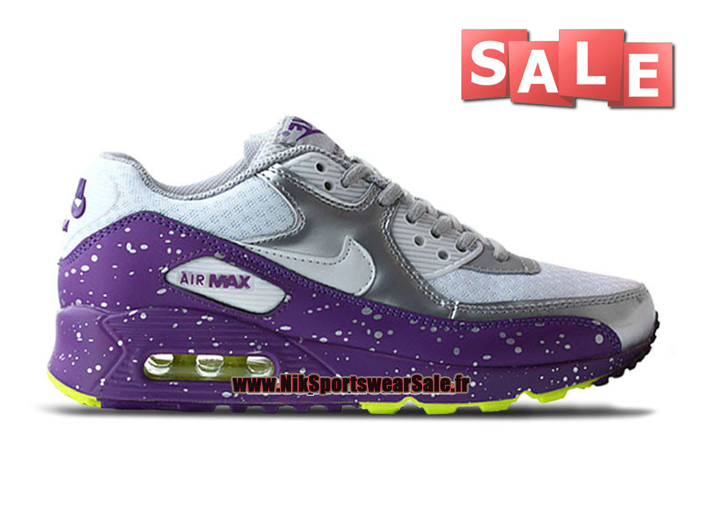 the best attitude 343f9 bcac0 Nike Air Max 90 GS - Chaussures Nike Sportswear Pas Cher Pour Femme Fille  Gris