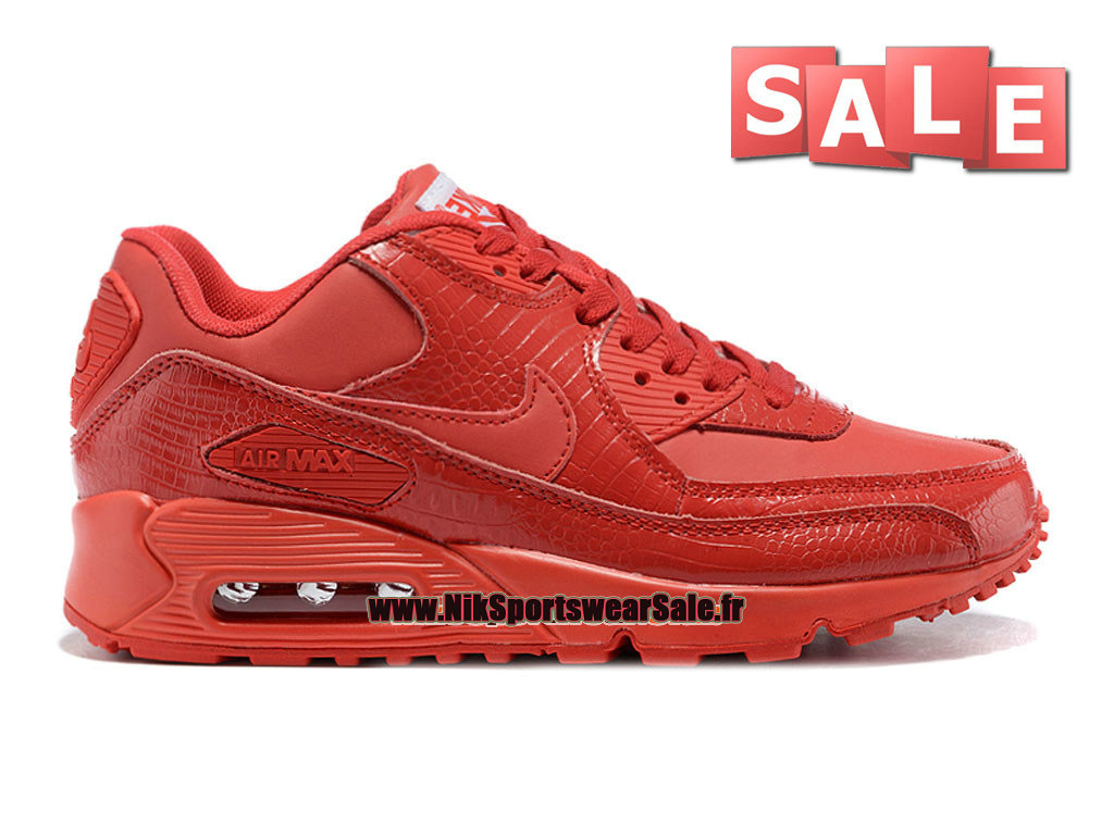 Nike Air Max 90 GS - Chaussures Nike Sportswear Pas Cher Pour Femme/Fille Rouge sportif/Rouge sportif 325213-94A