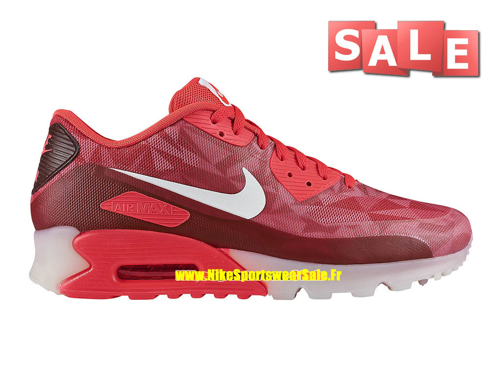 Nike Air Max 90 Ice - Chaussure de Sports Nike Pas Cher Pour Homme Cramoisi laser/Blanc/Legion Rouge 631748-601