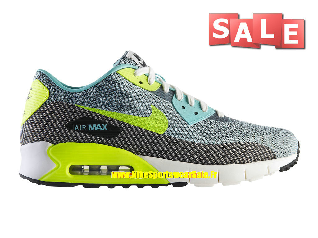 Nike Air Max 90 Jacquard Premium QS - Chaussures Nike Sportswear Pas Cher Pour Homme Hyper turquoise/Volt/Ivoire/Anthracite 669822-300