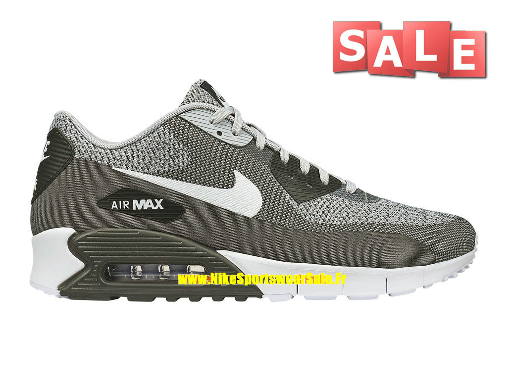 Nike Air Max 90 JCRD/Jacquard - Chaussures Nike Sportswear Pas Cher Pour Homme Gris loup/Blanc/Platine pur/Anthracite 631750-003