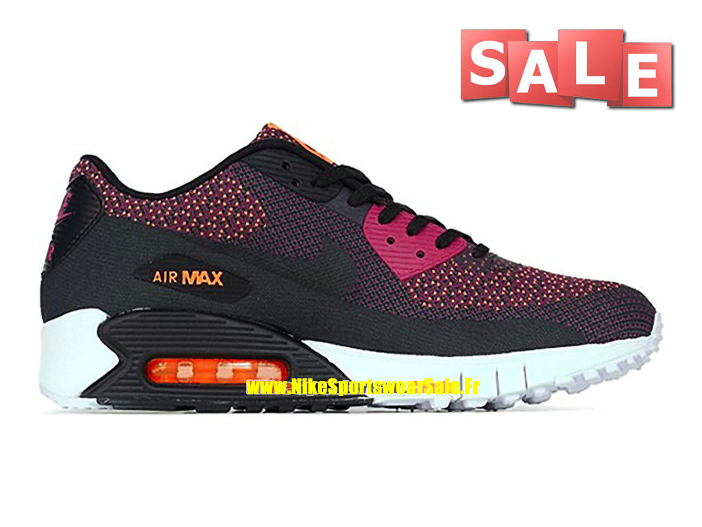 Nike Air Max 90 JCRD/Jacquard - Chaussures Nike Sportswear Pas Cher Pour Homme Magenta brillant/Orange total/Anthracite/Noir 631750-500