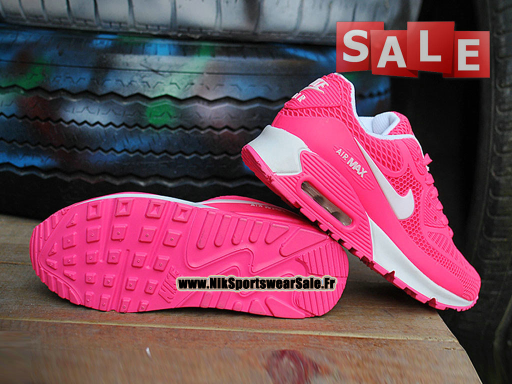 air max fille blanc et rose