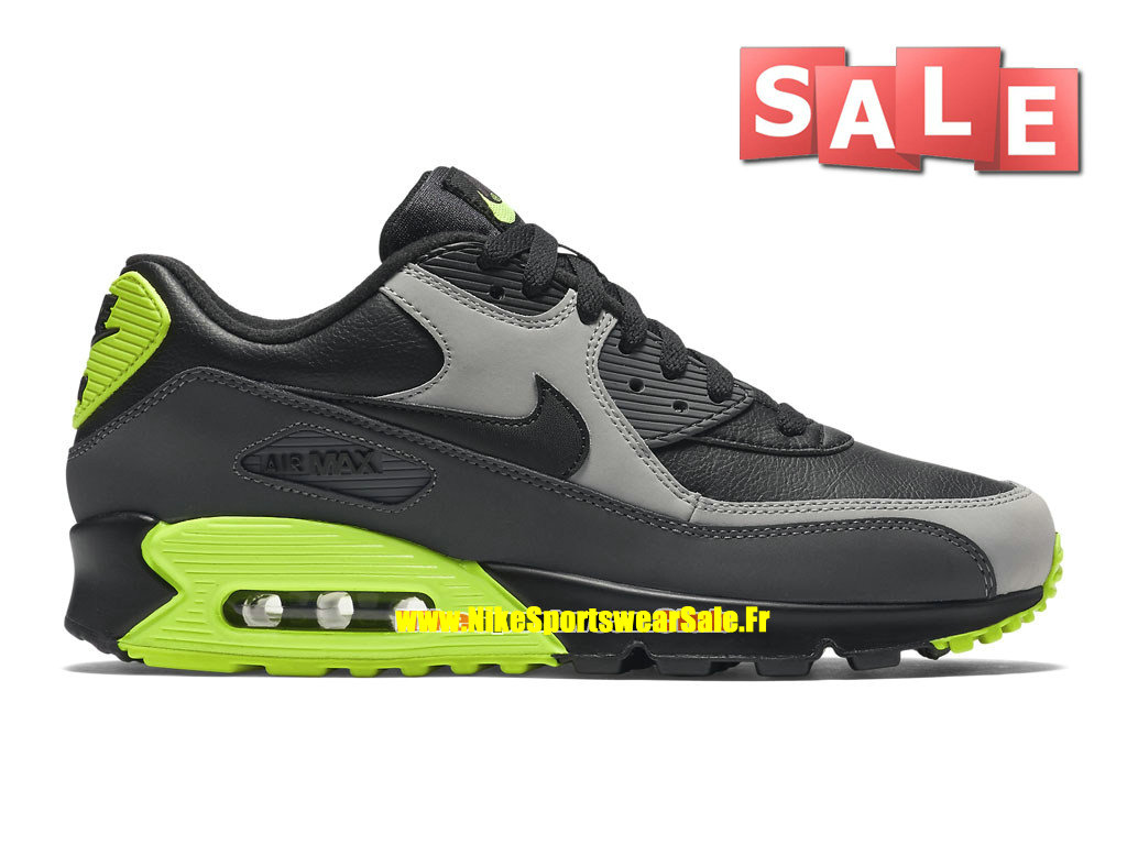 best sneakers b4bcd 34d8b Nike Air Max 90 Leather (LTR) - Men´s Nike Sports Shoe Black
