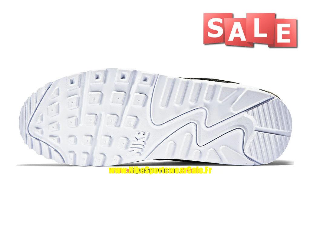 pretty nice cf64b ae2c6 ... Nike Air Max 90 Premium - Chaussure Nike Sportswear Pas Cher Pour Homme  Noir Argent ...