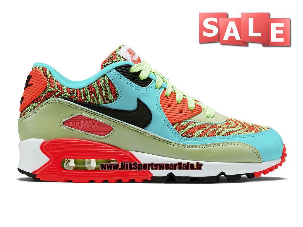 310c4e51342a2 Nike Air Max 90 Premium Mesh GS - Chaussure Nike Sportswear Pas Cher Pour  Femme  ...