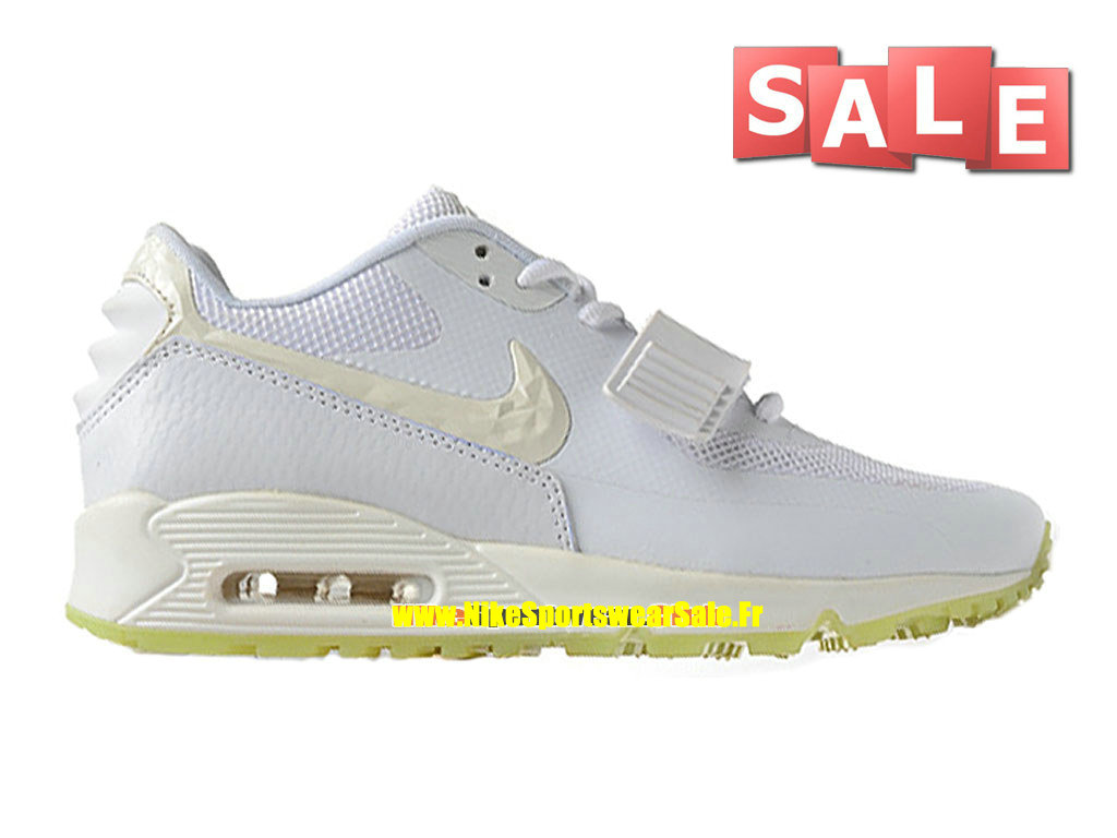 Nike Air Max 90 Yeezy 2 Design by Blkvis - Chaussure Nike Sportswear Pas Cher Pour Homme Blanc/Vert rayonnant 508214-003