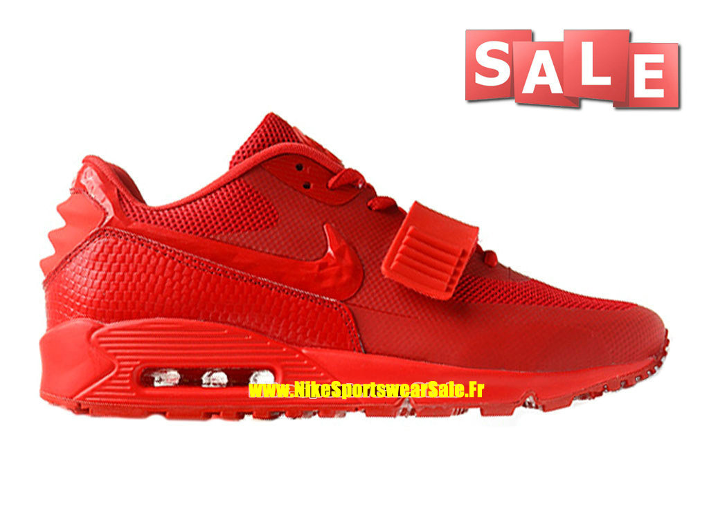 Nike Air Max 90 Yeezy 2 Design by Blkvis - Chaussure Nike Sportswear Pas Cher Pour Homme Rouge sportif/Rouge Université 508214-600