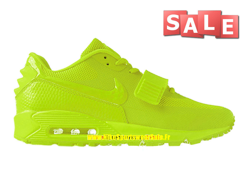 Nike Air Max 90 Yeezy 2 Design by Blkvis - Chaussure Nike Sportswear Pas Cher Pour Homme Vert Fluorescent/Volt 508214-700