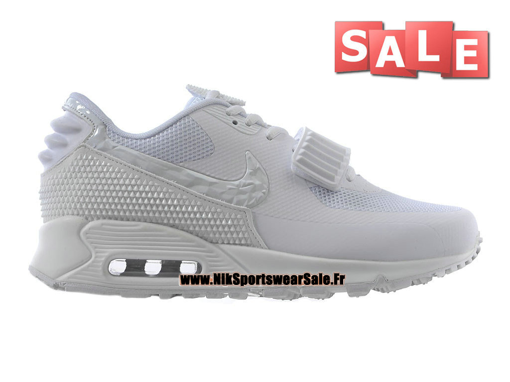 Nike Air Max 90 Yeezy 2 GS Design by Blkvis - Chaussure Nike Sportswear Pas Cher Pour Femme/Enfant Blanc 508214-604iD-G