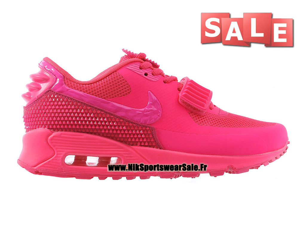 Nike Air Max 90 Yeezy 2 GS Design by Blkvis - Chaussure Nike Sportswear Pas Cher Pour Femme/Fille Hot Pink/Rose dynamique 508214-606iD-G