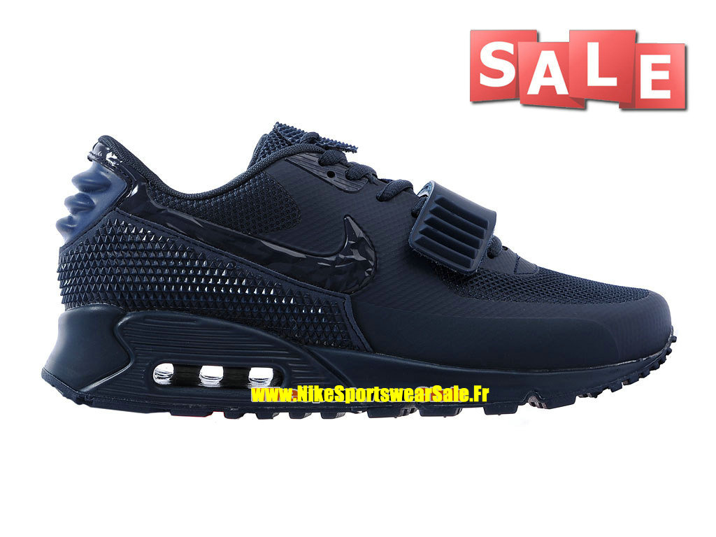 Nike Air Max 90 Yeezy 2 SP (Blkvis) - Chaussure Nike Sportswear Pas Cher Pour Homme Navy Bleu 508214-605iD
