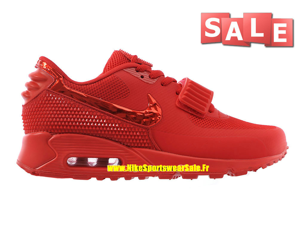 Nike Air Max 90 Yeezy 2 SP (Blkvis) - Chaussure Nike Sportswear Pas Cher Pour Homme Rouge sportif/Rouge Université 508214-600iD