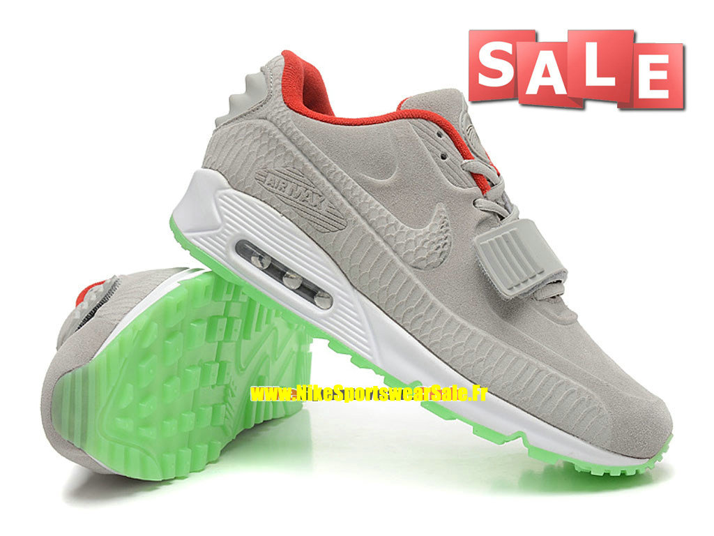 new style 127f8 0487d Nike Air Max 90 Yeezy X BLKVIS Gallery - Men´s Nike Custom Sports Shoe Wolf  Grey/University Red/Green Glow 508214-011H-Boutique Nike Cheap 2017 France  ...