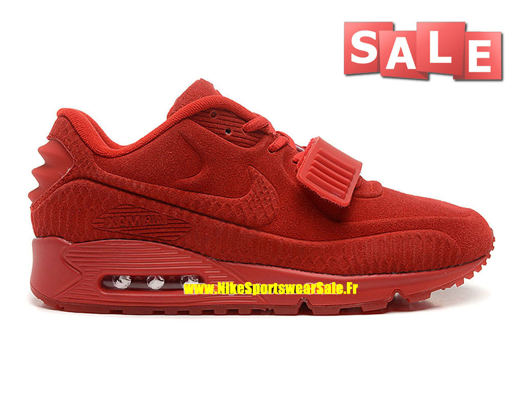 Nike Air Max 90 Yeezy X BLKVIS Gallery - Chaussure Nike Sportswear Pas Cher Pour Homme Rouge sportif/Rouge Université 508214-600H