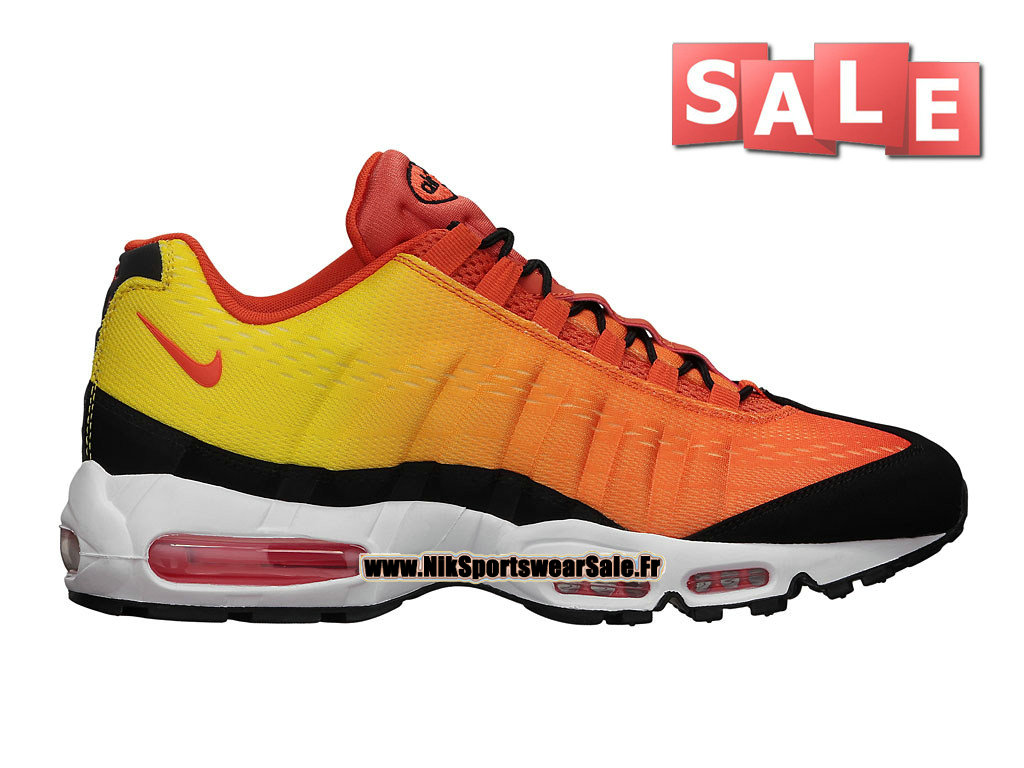 "Nike Air Max 95 EM ""Sunset Pack"" - Nike Sportswear Chaussure Pas Cher Pour Homme Orange équipe/Noir/Cramoisi Total 554971-886"