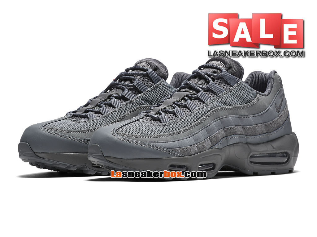 Nike Air Max 95 Essential (GS) - Chaussures Nike Sportswear Pas Cher Pour Femme/Enfant Gris froid/Gris froid/Gris froid 749766-012G