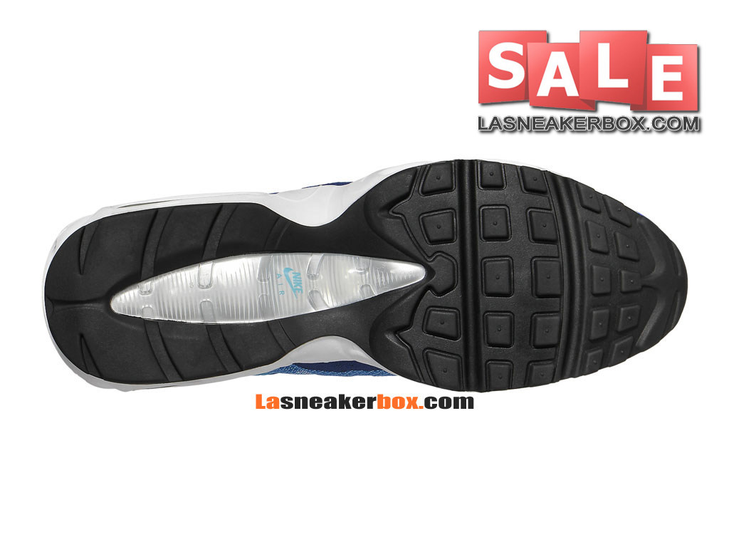newest 9a03a 4e225 ... Nike Air Max 95 Jacquard - Chaussures Nike Sportswear Pas Cher Pour  Homme Bleu photo