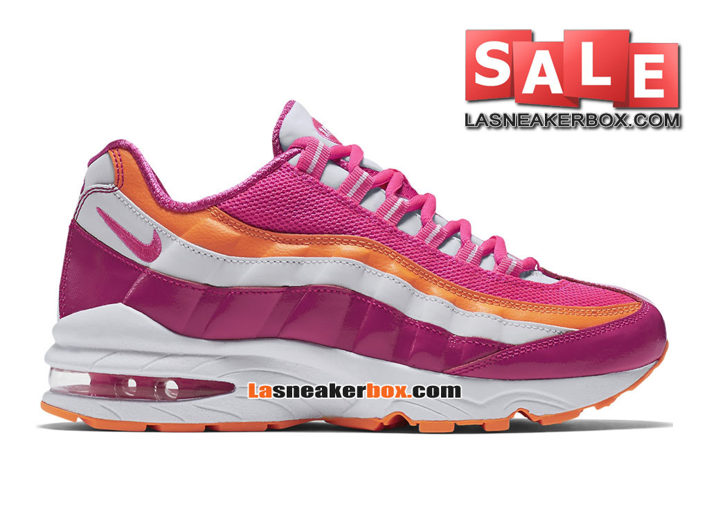 Nike Air Max ´95 LE (GS) - Nike Sportswear Chaussures Pas Cher Pour Femme/Fille Rose vif/Rose framboise/Orange brillant 310830-603