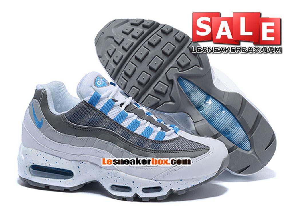 buy online abfcb 6485e ... Nike Air Max 95 - Nike Sportswear Chaussure Pas Cher Pour Homme Blanc Hyper  cobalt ...