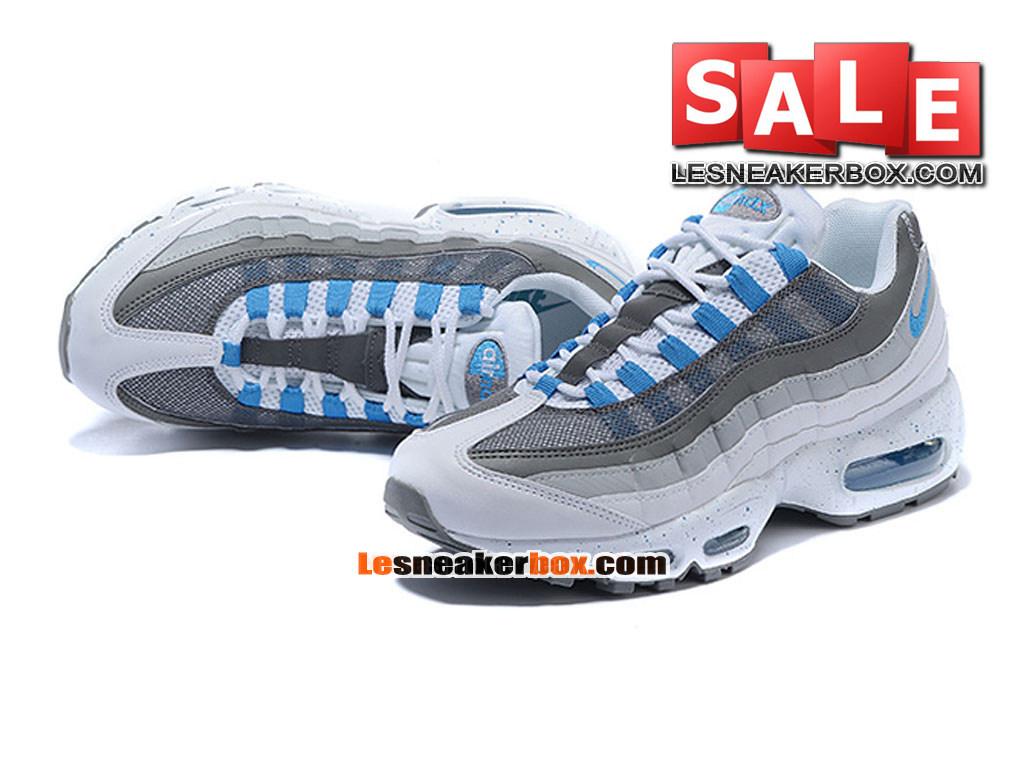 ... Nike Air Max 95 - Nike Sportswear Chaussure Pas Cher Pour Homme Blanc/Hyper cobalt ...