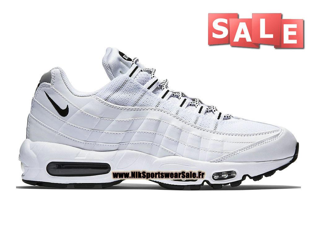 e112d3ea18044 Nike Air Max 95 - Nike Sportswear Chaussure Pas Cher Pour Homme Blanc Noir-  ...