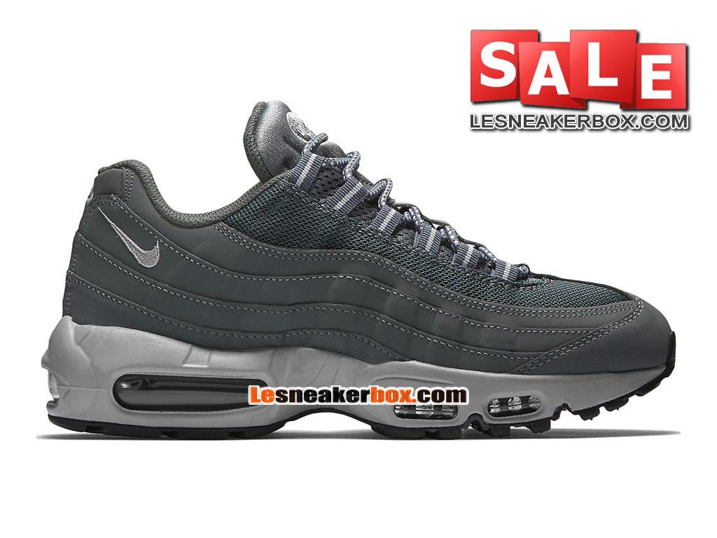online store 1ff10 6593a Nike Air Max 95 - Nike Sportswear Chaussure Pas Cher Pour Homme Gris foncé Noir  ...