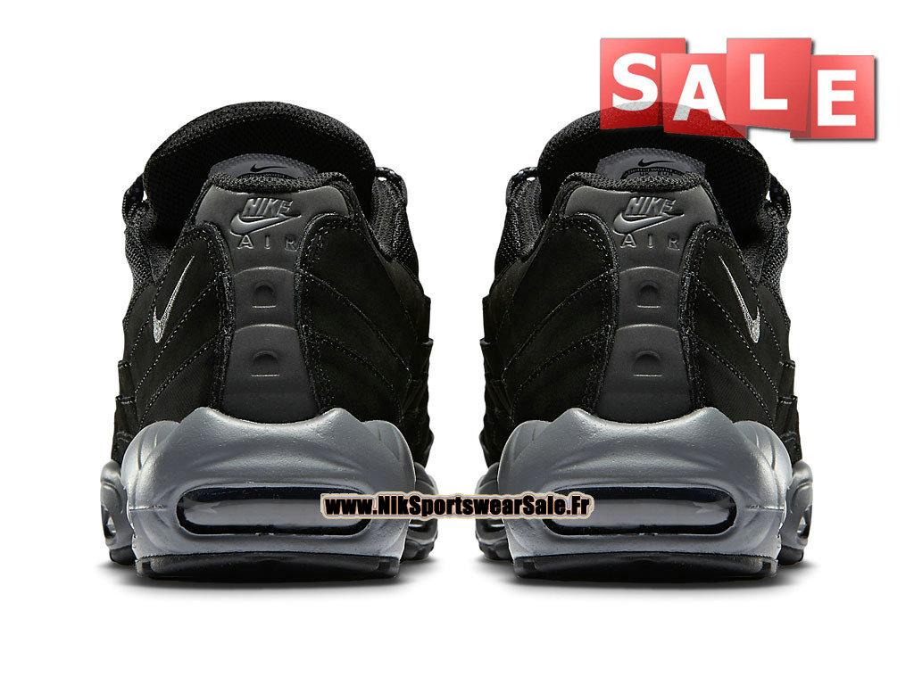 Nike Air Max 95 Nike Sportswear Chaussure Pas Cher Pour Homme NoirNoir Gris foncé 609048 087 Officiel de Chaussure Nike 2017 France Babbix.FR