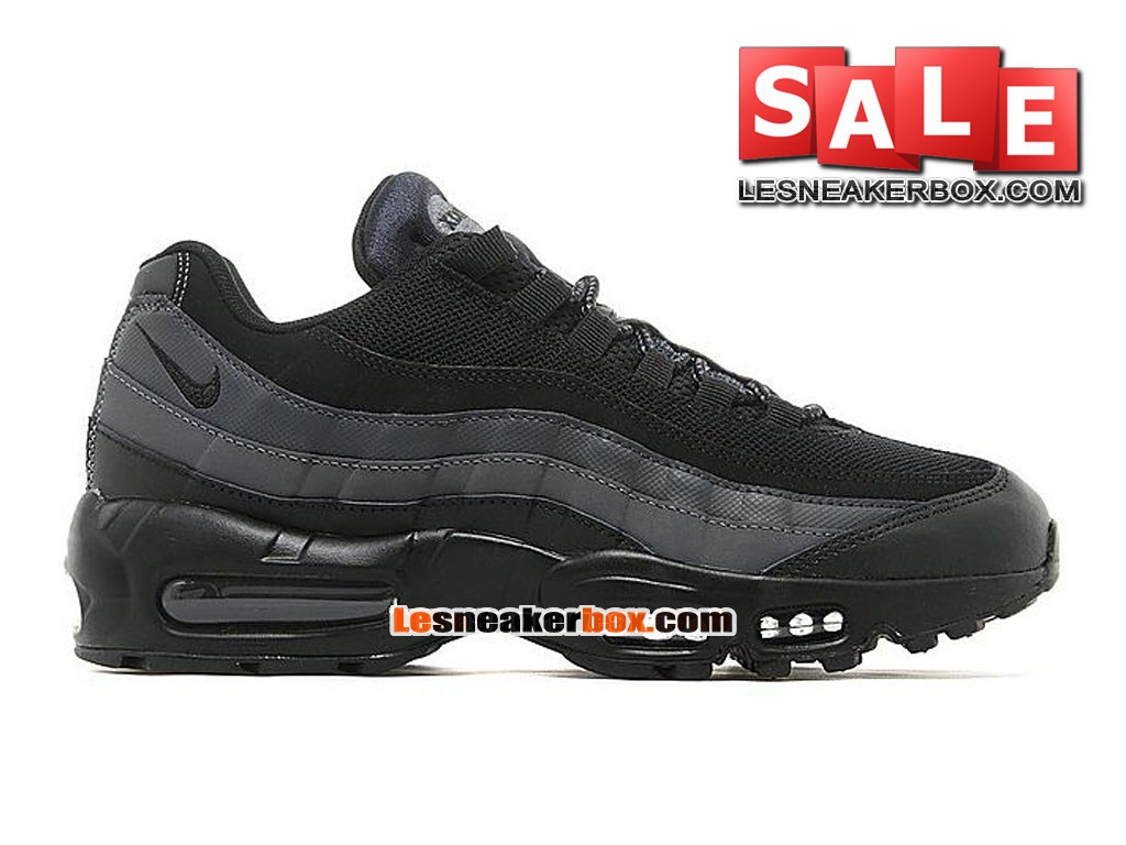 "Nike Air Max 95 Premium ""Goes Full Stealth Mode"" - Nike Sportswear Chaussure Pas Cher Pour Homme Noir/Anthracite 538416-YYY"