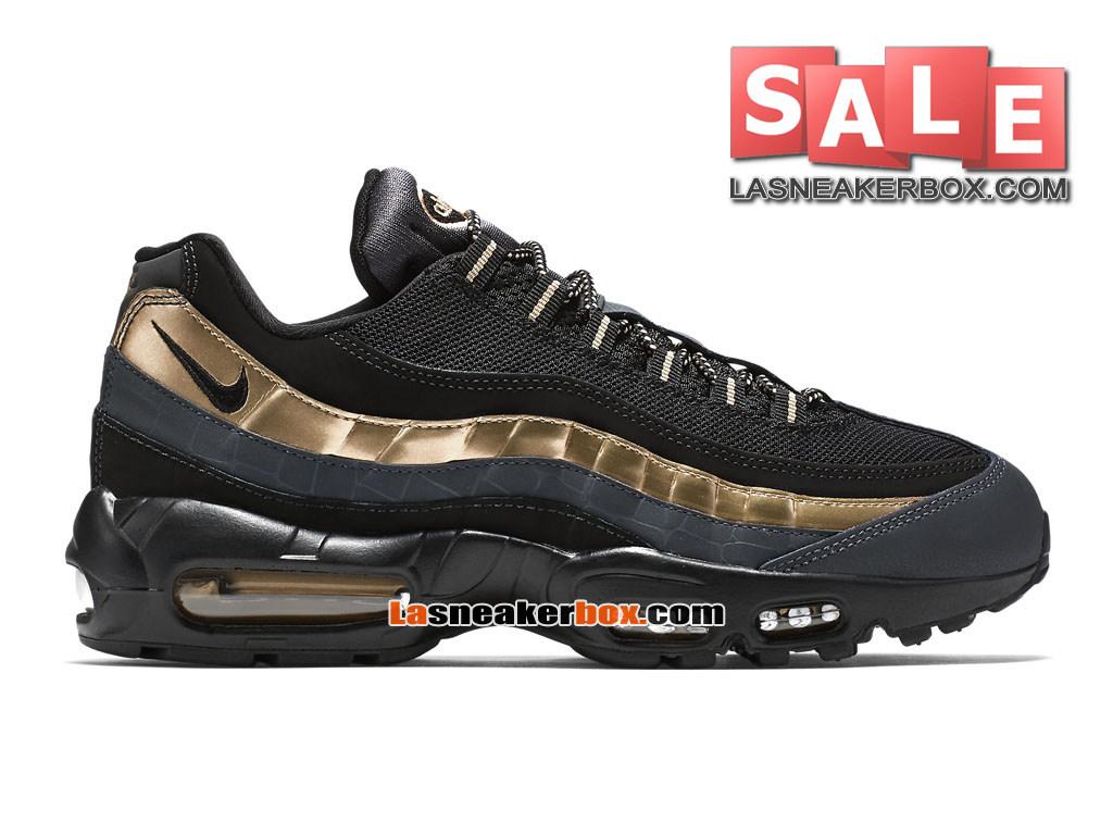 buy online 29764 3e679 Nike Air Max 95 Premium - Nike Sportswear Chaussure Pas Cher Pour Homme  Noir Or ...