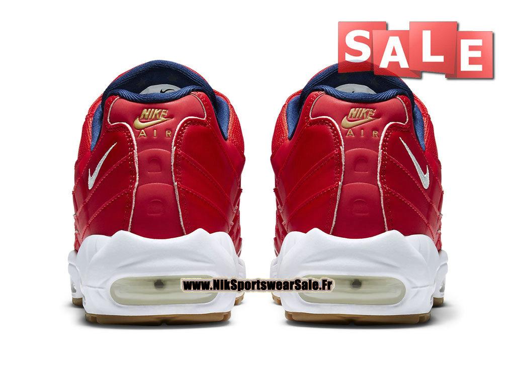 official photos 010b1 7bb85 ... Nike Air Max 95 Premium - Nike Sportswear Chaussure Pas Cher Pour Homme  Rouge Université/