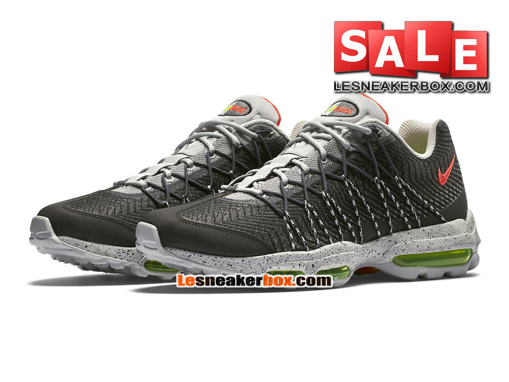 cheap for discount 80457 6cf48 ... Nike Air Max 95 Ultra Jacquard - Chaussure Nike Sportswear Pas Cher  Pour Homme Argent nuit ...