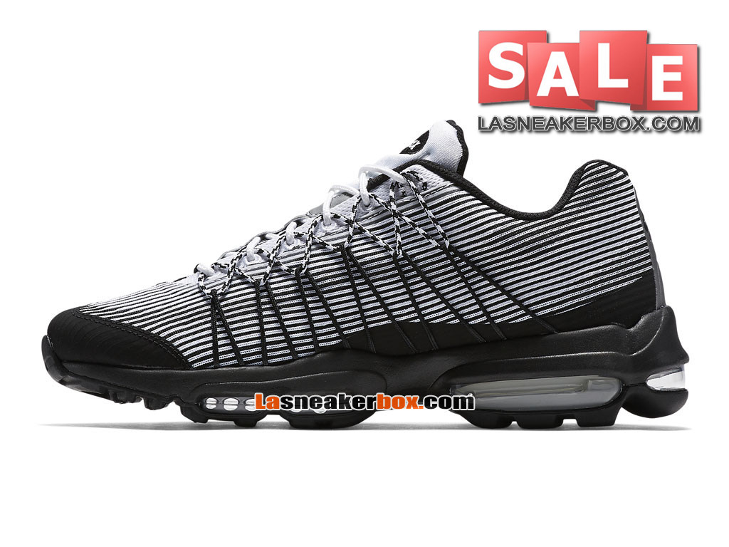 premium selection c6179 6ee6c ... Nike Air Max 95 Ultra Jacquard - Chaussure Nike Sportswear Pas Cher  Pour Homme Blanc/ ...