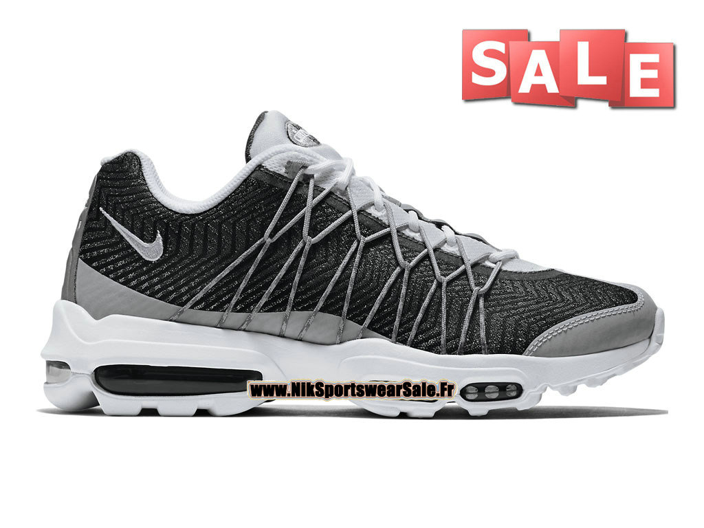 online retailer 38194 334b9 Nike Air Max 95 Ultra Jacquard - Chaussure Nike Sportswear Pas Cher Pour  Homme Blanc