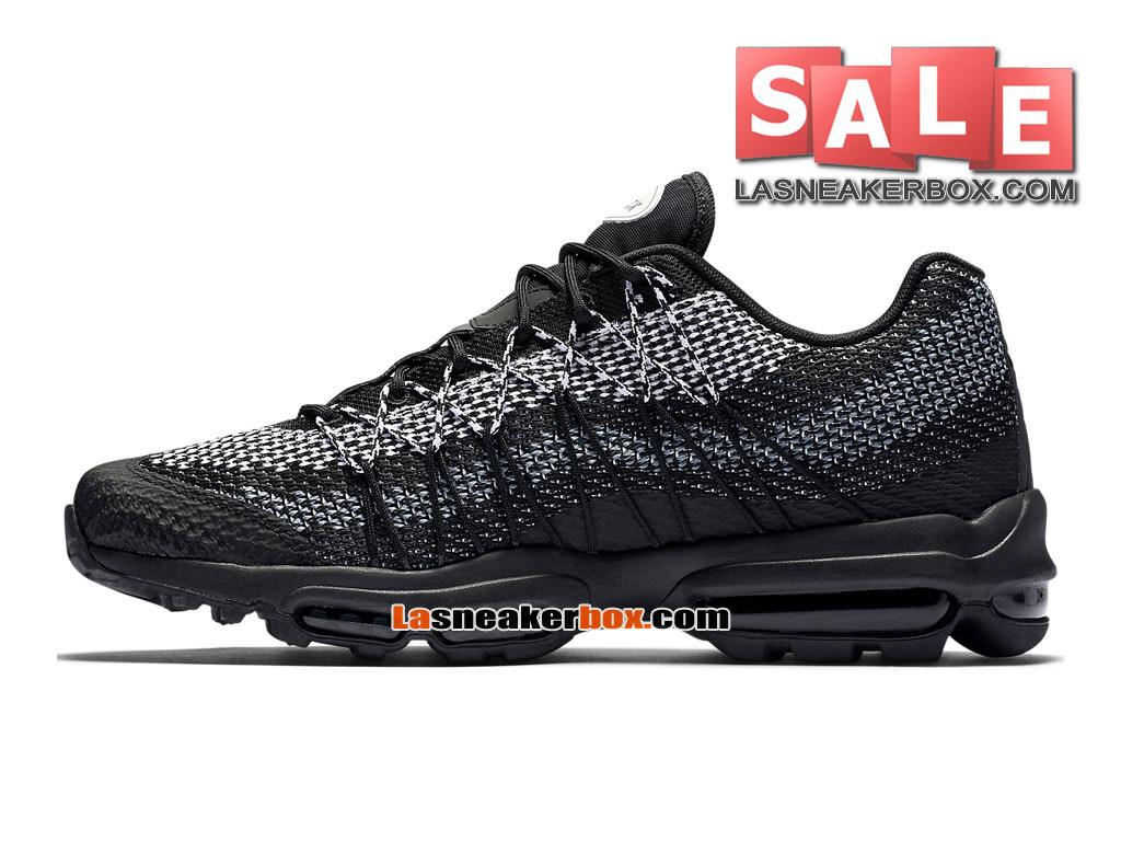 half off 47334 5a182 ... Nike Air Max 95 Ultra Jacquard - Chaussure Nike Sportswear Pas Cher  Pour Homme Noir  ...