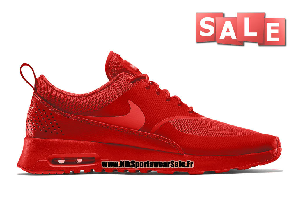 Nike Air Max Thea - Chaussures Nike Sportswear Pas Cher Pour Homme Lave piquant/Cramoisi clair/Cramoisi brillan 599409-801H